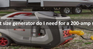 What size generator do I need for a 200-amp service